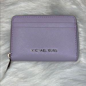 Michael Kors Mini Lavender Zip Around Wallet